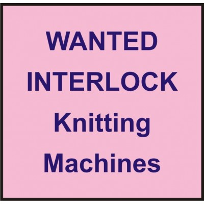 Wanted Used Knitting Machines - INTERLOCK